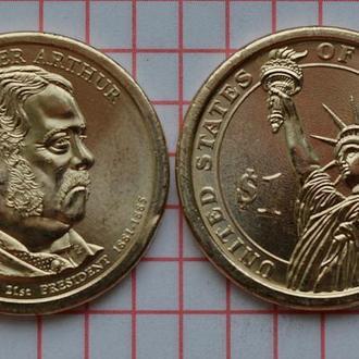 1 доллар, 21 президент США Честер Алан Артур , 2012 г, анц