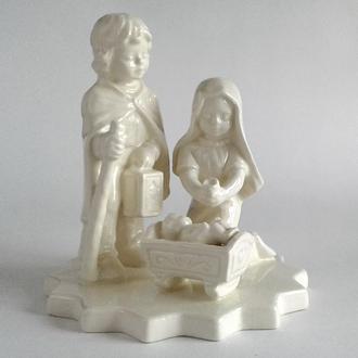 Статуэтка Иисус, Мария и Иосиф, фарфор, Goebel, 1960-е, W. Germany