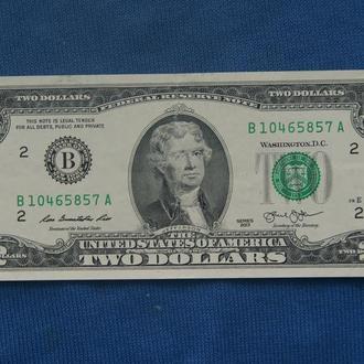 США 2 доллара 2013 г  ЛЮКС