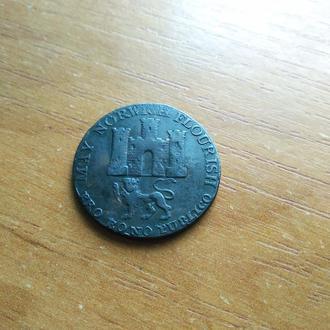 1/2 пенни-токен 1792 Великобритания Норидж--Норвич