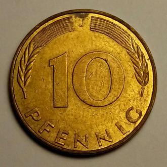 10 пфеннигов 1989 года ( J ) - Германия - СОСТОЯНИЕ !!! а2