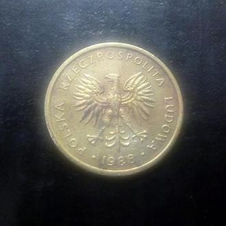 2 злотых (1988) Польша.