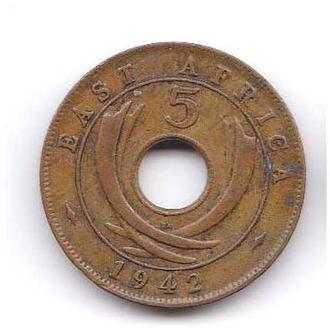 Восточная Африка 1942 г - 5 центов
