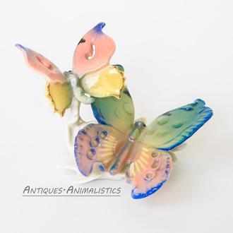 Фарфоровая статуэтка Karl Ens Германия Яркие Бабочки