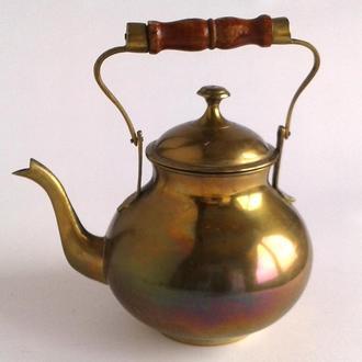 Антикварный латунный чайник 1960-е Germany Fv8