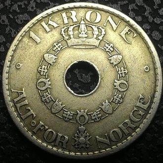 Норвегия 1 крона 1925 год СОХРАН!!!!!!