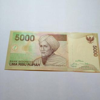 5 000 рупий 2015, Индонезия, пресс, Unc, оригинал