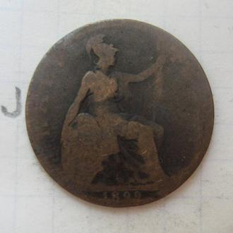 ВЕЛИКОБРИТАНИЯ 1/2 пенни 1899 года (Виктория).