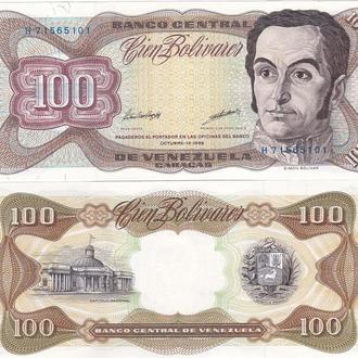 Venezuela Венесуэла  100 Bolivares 13. 10 .98  UNC Javir