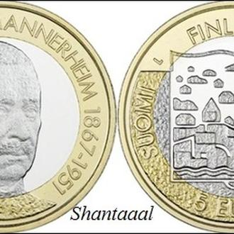 Shantаal, Финляндия 5 Евро 2017, Карл Густав Эмиль Маннергейм, 6й Президент