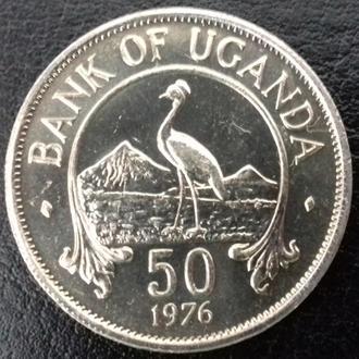 50 центов Уганда 1976 года