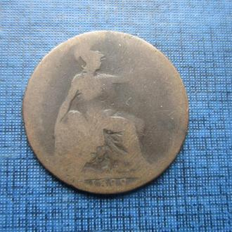 Монета 1/2 пенни Великобритания 1899 Виктория