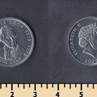 Кука острова 1 цент 2003