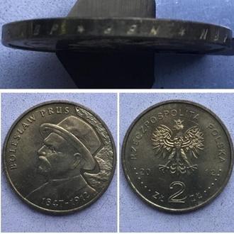Польша 2 злотых, 2012г. 100 лет со дня смерти Болеслава Пруса / Юбилейная монета