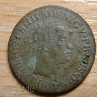 Немецкая серебряная монета 1821года