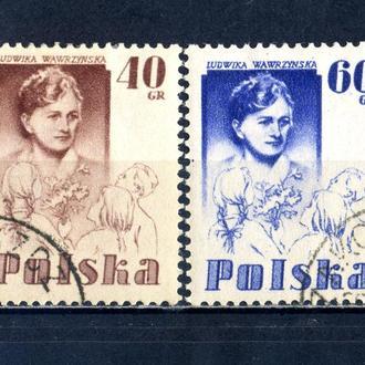 Польша. Учительница Людвика Вавржинская (серия) 1956 г.