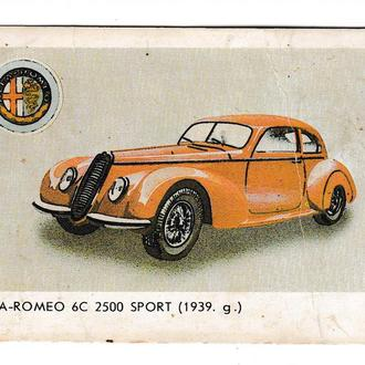 Календарик 1987 Авто, Alfa-Romeo