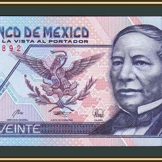 Мексика 20 песо 1992 P-100 (100a) UNC