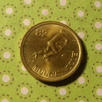 Португалия 1982 год монета 1 эскудо хокей !