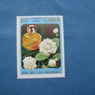 Куба 1989 год Цветы