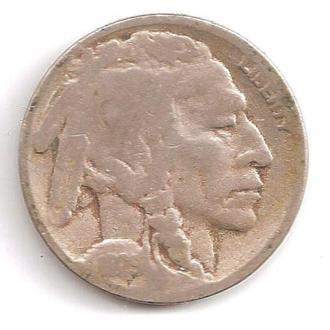 Монета 5 центов (США) 1925 Бизон (Индеец) (2)