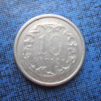монета 10 грошей Польша 1993