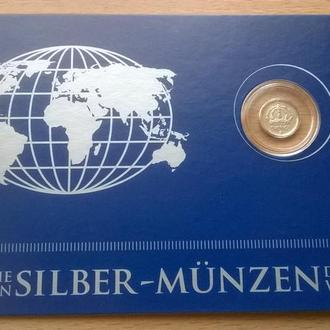 Швеция – 10 ore 1950 год СЕРЕБРО Ag блистер из серии Die Kleinsten Silber-Munzen + сертификат