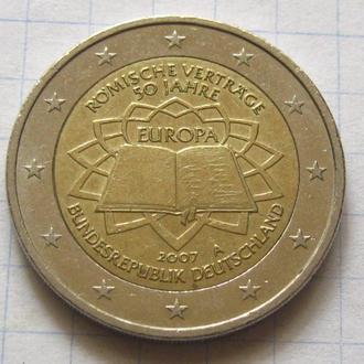 Германия_ 2 евро 2007  A «50-летие подписания Римского договора»