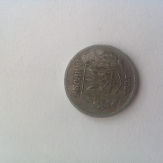 Монета Украины 2 копейки 1993 года