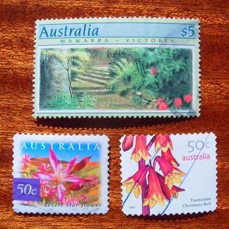 Австралия.1989/2007гг. Флора. Цветы. Подборка.