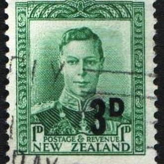 Новая Зеландия (1953) Король Георг VI. Надпечатка