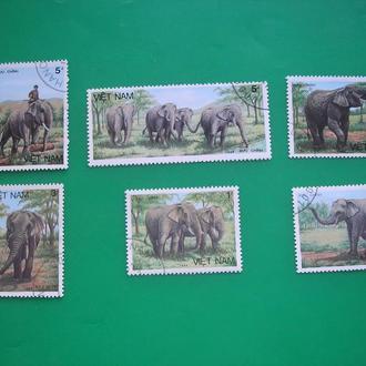 Вьетнам 1986  Слоны *  полн. сер.