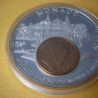"""Медаль """"Деньги Европы"""" МОНАКО"""