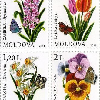Молдова 2011 Стандарт. Цветы Флора **