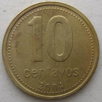 Аргентина 10 песо 2004 год