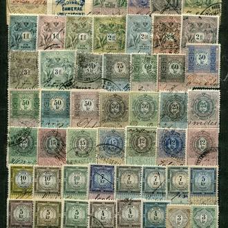 Штемпельні марки Австрії. Кінець 19 ст.