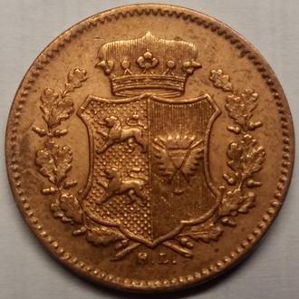 Шлезвиг-Гольштейн 1 дрелинг 1850 г., РЕДКАЯ !!! ОТЛИЧНОЕ СОСТОЯНИЕ!!!