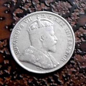 5 центов  Канада 1905 серебро состояние !!! РЕДКАЯ