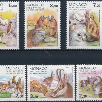 фауна Монако-1986 животные Альп (кц 13е)