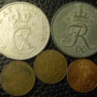 5 оре Данія (порічниця) 5шт, всі різні