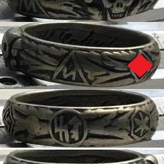Кольцо Мёртвая голова. Totenkopfring,SS-Ehrenring. новодел./  размер 20,5