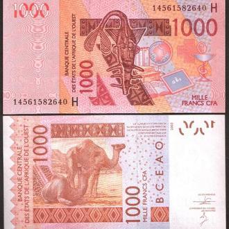 West Africa St/Niger /З.Африка- 1000 Francs 2014 UNC Миралот