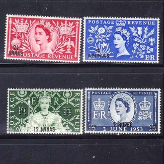 GB  1953 г  MLH  - надпечатка