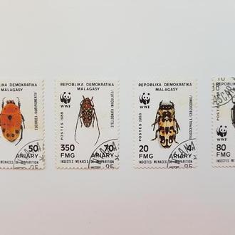 Марки Reboblica Demokratika, Malagasy/Incectes 1988