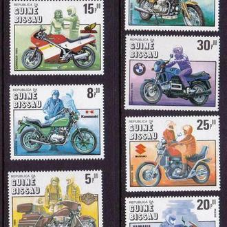 Транспорт . Гвинея Биссау 1985 г MNH - мотоциклы