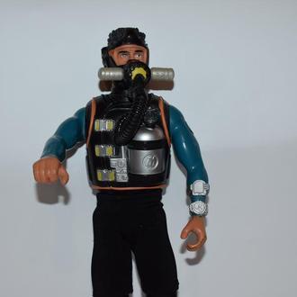 коллекционный аквалангист Action Man Scuba Diver фигурка с аксессуарами Hasbro 1998 Год винтаж