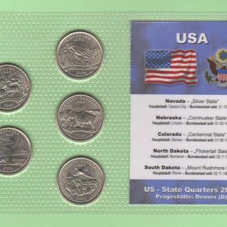 Набор квотер ов США 2006 D - пластик блистер запайка