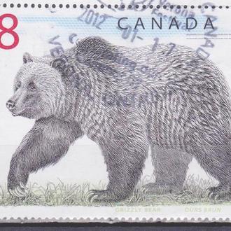 Канада 1997 МЕДВЕДЬ ГРИЗЛИ ФАУНА ДИКИЕ ЖИВОТНЫЕ ХИЩНИКИ МЛЕКОПИТАЮЩИЕ 1м $8 Mi.1647 EUR 10.-!!!