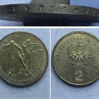 Польша 2 злотых, 2006г.  XX зимние Олимпийские игры, Турин 2006