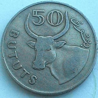 Гамбия 50 бут 1971 год